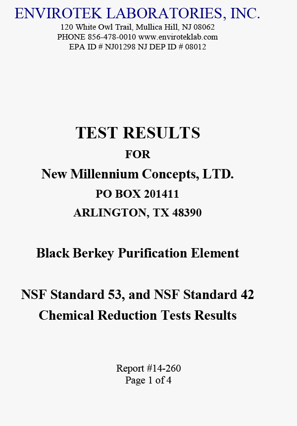 Heavy Metal Chemical VOC Pharmaceutical Petrol Removal Test Report
